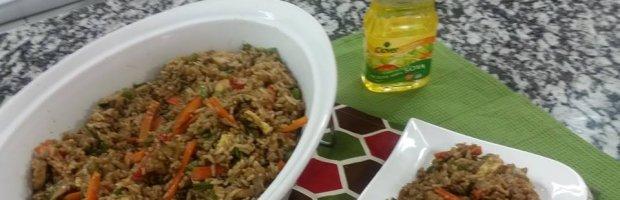 receta arroz frito vegetariano